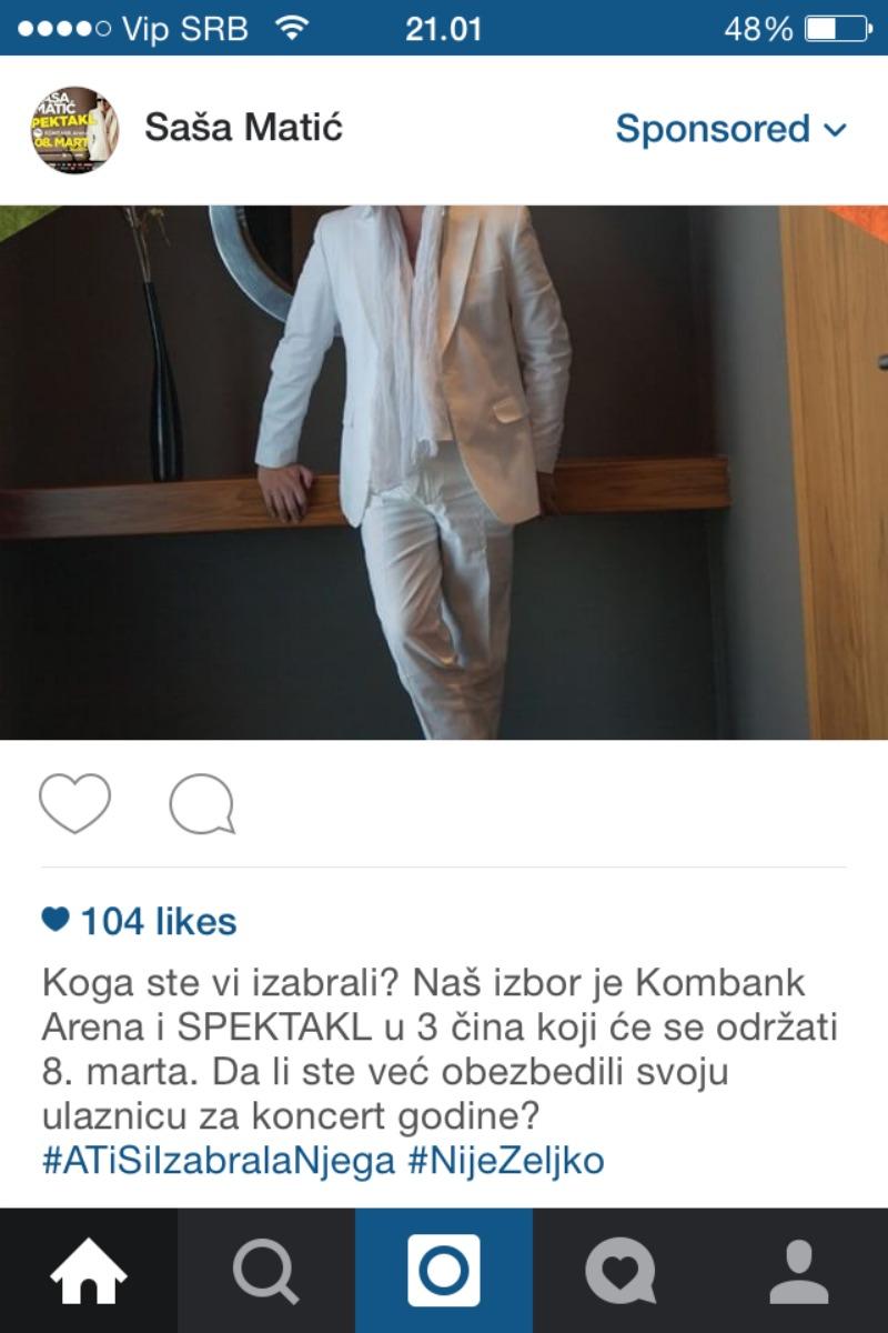 Sasa Matic Instagram hastag Estradanje